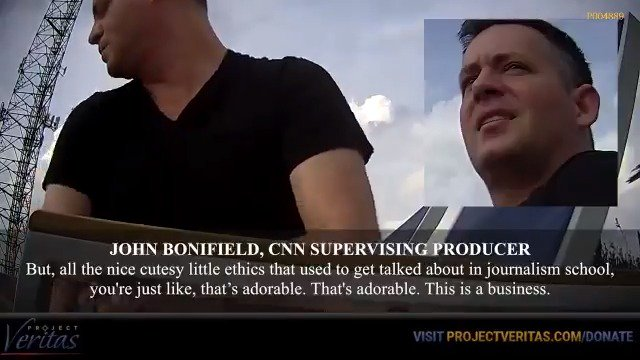 """CNN producer jokes about journalism ethics: """"All the nice cutesy little ethics that used to get talked about in journalism school, you're just like, that's adorable. This is a business""""  Those on the inside of these institutions - be brave and expose them: http://www.projectveritas.com/brave"""