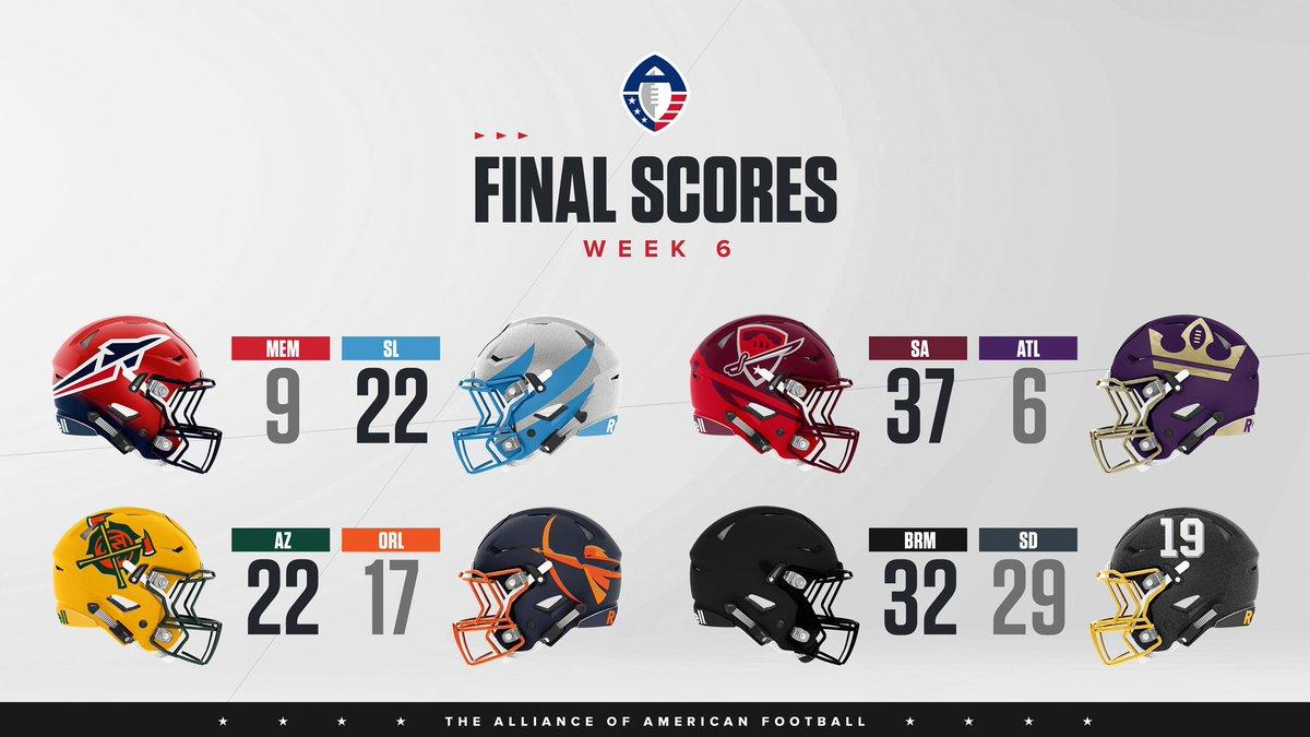 Week 6️⃣ scores in The Alliance. 🏈