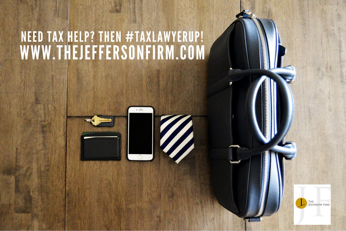 If you have a tax problem, we got a solution! #taxlawyerup. http://www.thejeffersonfirm.com . #tax #taxattorney #taxes #thetaxproblemattorney #americastaxattorney #nehemiahjefferson #tampataxattorney #dctaxattorney #iteachtax #thejeffersonfirm