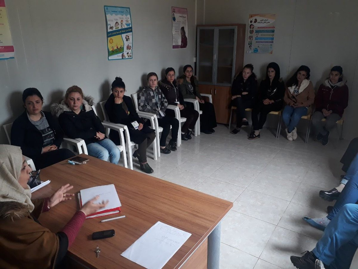 test Twitter Media - AMAR's Woman Health Volunteers in Khanke camp #Kurdistan regularly attend training on specific health conditions.   This helps them to identify problems when they're visiting the community in the camp - which has a population of around 20,000 people, many of whom are #Yazidi. https://t.co/NNN76uaj4B