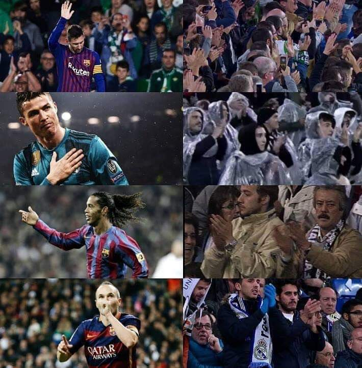 Only the greatests were applauded by opposition fans 👏