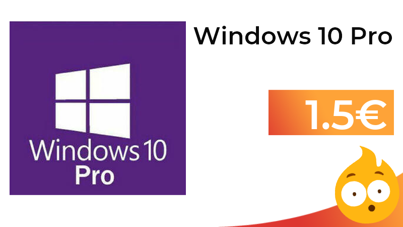 Chollazo!!!!! Windows 10 Pro a poco más de un euro! Corre!  ➡️ https://t.co/iryWKJMJEn https://t.co/MmpZelppMD