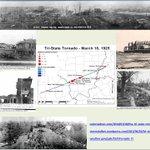 Image for the Tweet beginning: #OTD in 1925: Tri-State Tornado