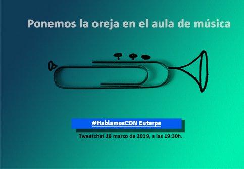 Hoy lunes 18 de marzo 19;30h. Unimos voces para debatir sobre la realidad de la educación musical en el Tweetchat #HablamlsCon Euterpe. ¡Estás a tiempo de inscribirte! https://bit.ly/2Fg8ijc   @C_ConEuterpe #ConEuterpe19 #ConEuterpeValladolid #DirectosCrea