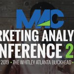 Image for the Tweet beginning: The 2019 #Marketing #Analytics Conference