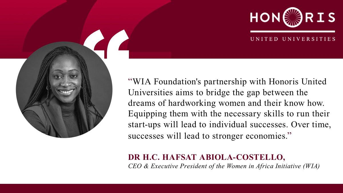 Today&#39;s #MondayMotivation comes from Dr. Hafsat Abiola-Costello, CEO &amp; Executive President of @WIAInitiative. She explains the most valuable part of the relationship between Honoris United Universities and Women In Africa Philanthropy. #IWD2019  #BalanceForBetter #WIA54PROJECT<br>http://pic.twitter.com/nZLGWg5fHu