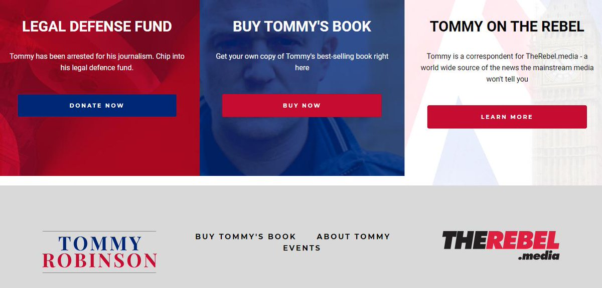 1/ The fake news website which has done most to promote Stephen Yaxley-Lennon (AKA Tommy Robinson) is Rebel Media. The Canadian site hired Yaxley-Lennon as a reporter in 2017 & even host a legal defense fund for him. #SFFN http://www.stopfundingfakenews.com