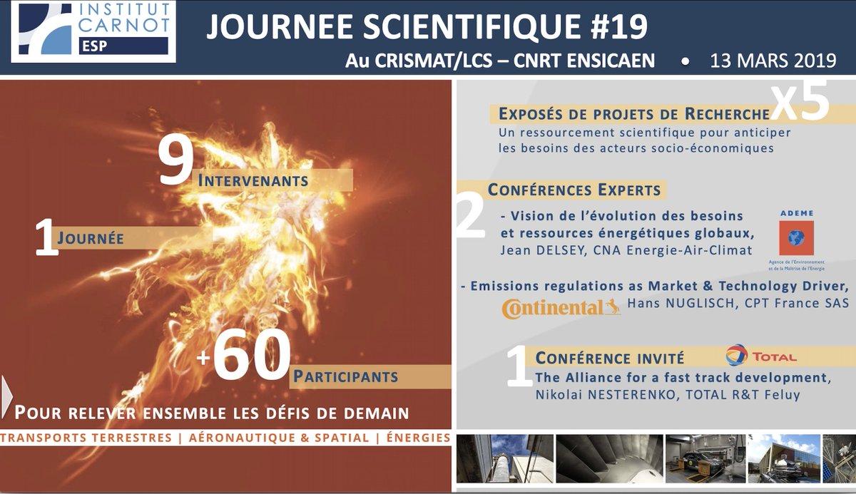Bilan de la journée scientifique du #CarnotESP avec une conférence sur la #chaireIndustrielle #NanoCleanEnergy @ademe #Continental @Total @ENSICAEN @CNRT_Materiaux @normandieuniv @Universite_Caen @CNRS @INC_CNRS @CNRS_Normandie #CRISMAT