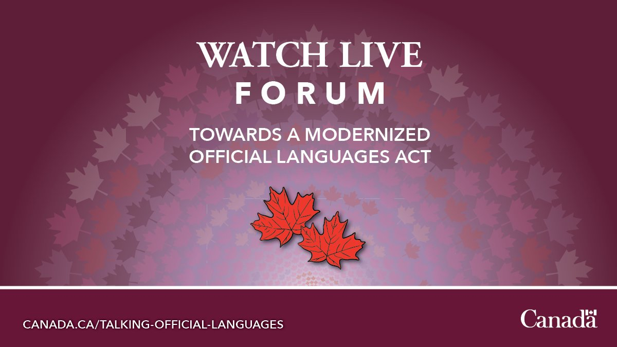 Watch live: forum to discuss federal institutions that embody official languages. Participate online now! http://Canada.ca/Talking-official-languages… #OfficialLanguagesAct