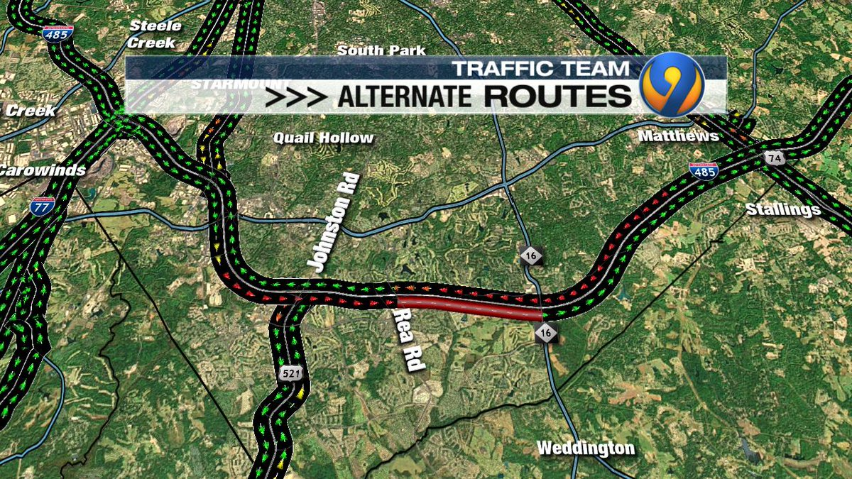 ALERT: OL I-485 is BLOCKED between Rea Rd. &amp; Providence.  Major delays on both sides of the interstate #cltraffic #clttraffc #clt<br>http://pic.twitter.com/mPxyIseOGg