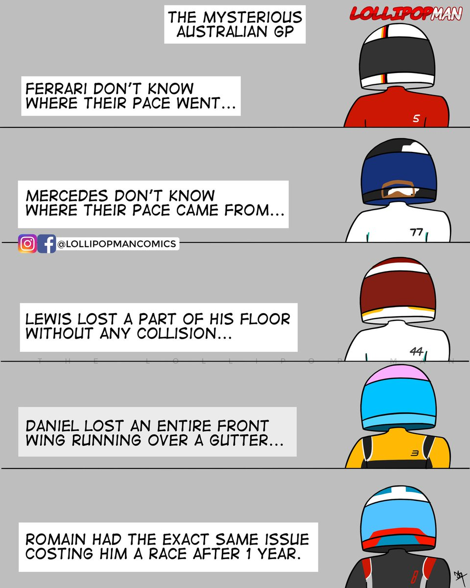 A serious of mysterious happenings at the 2019 Australian GP!  <br>http://pic.twitter.com/pfbqymPeiw