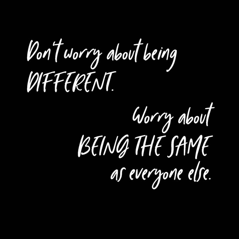 Don&#39;t worry about being different. Worry about being the same as everyone else.#quotes #motivationalmonday <br>http://pic.twitter.com/DcSdAyYsO9