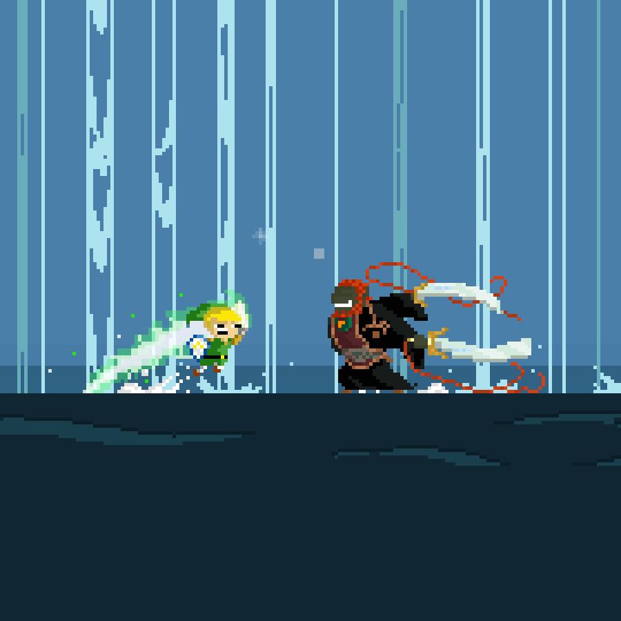 [The Wind Waker] #Zelda series 2 #pixelart #link #ganon<br>http://pic.twitter.com/uMiAi9ebsk