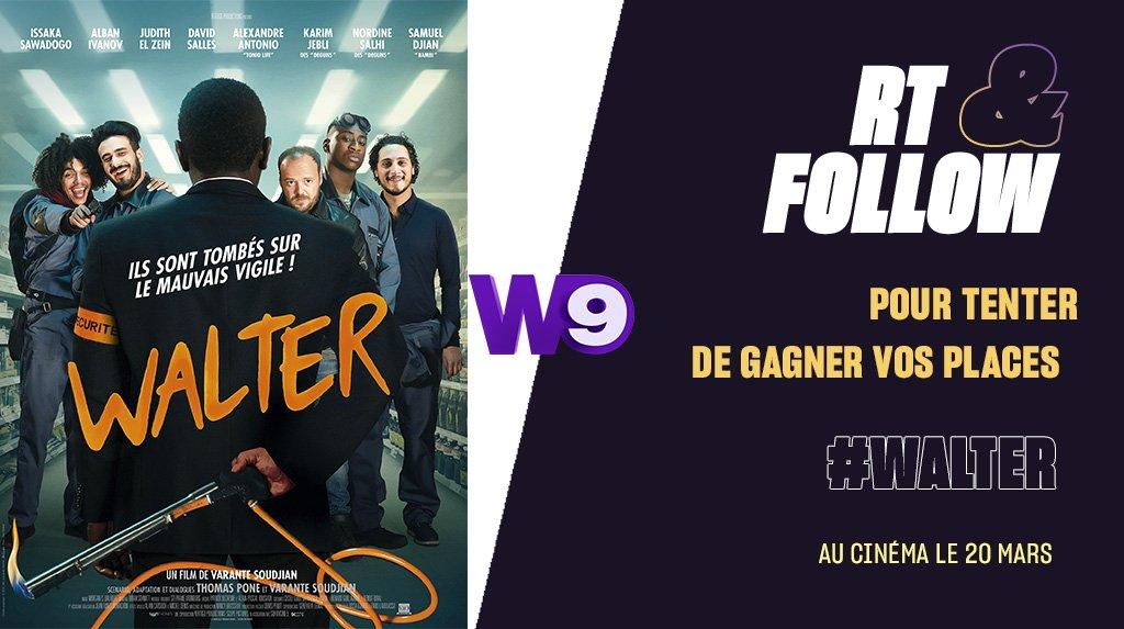 RT + FOLLOW pour tenter de gagner vos places pour aller voir #WALTER au cinéma dès le 20 mars 2019 !