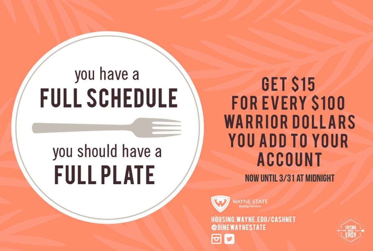 Wayne State Dining Dinewaynestate Twitter