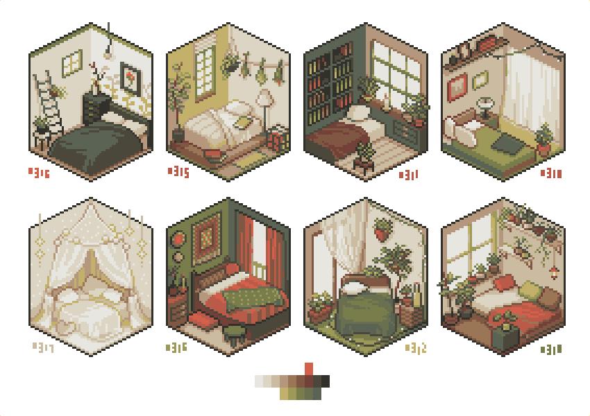bedroom いろいろ#pixelart #ドット絵