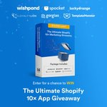 Enter for a chance to win The Ultimate Shopify 10X Marketing Package featuring @Wishpond , Lucky Orange, Spocket, Loyalty Lion, Gorgias and us! Up for grabs is over $10,000 in prizes and includes everything you need to upgrade your #Shopify store in 2019! https://t.co/lMiuzokuhe