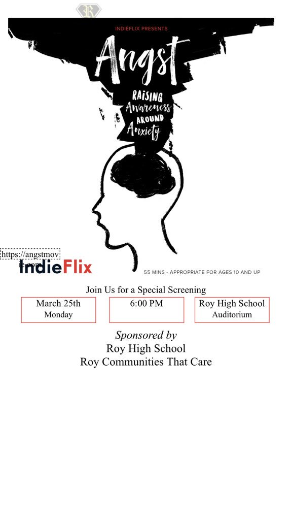 We will be showing the movie Angst here at our school next Monday! Students you can earn .25 attendance credit for attending!!!! See the flyer below for more information!