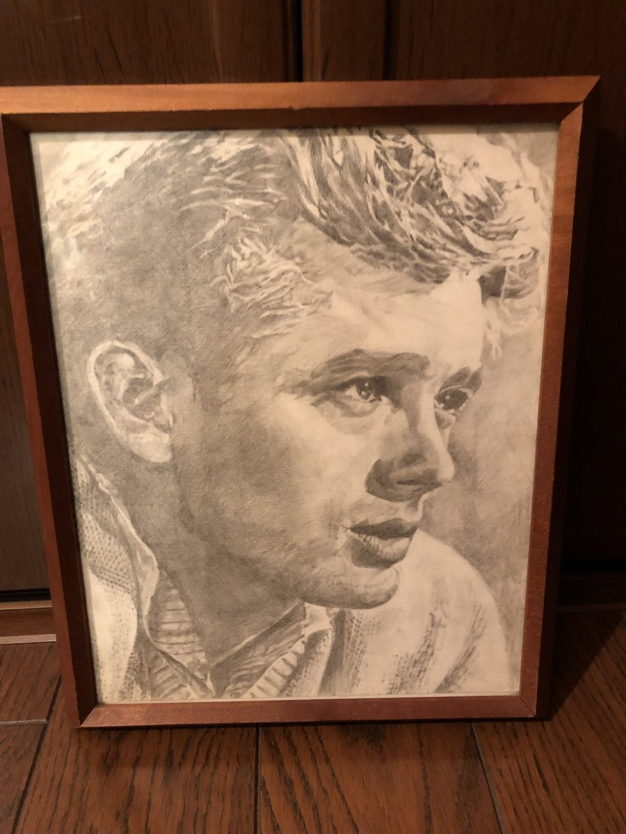 娘の愛莉に対抗するわけじゃないけど、このジェームズ・ディーンの絵は、中学生の頃に俺が描いた絵だよ!! 名作だろ??