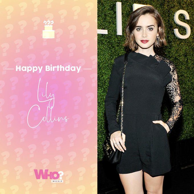 Happy birthday, Lily Collins!
