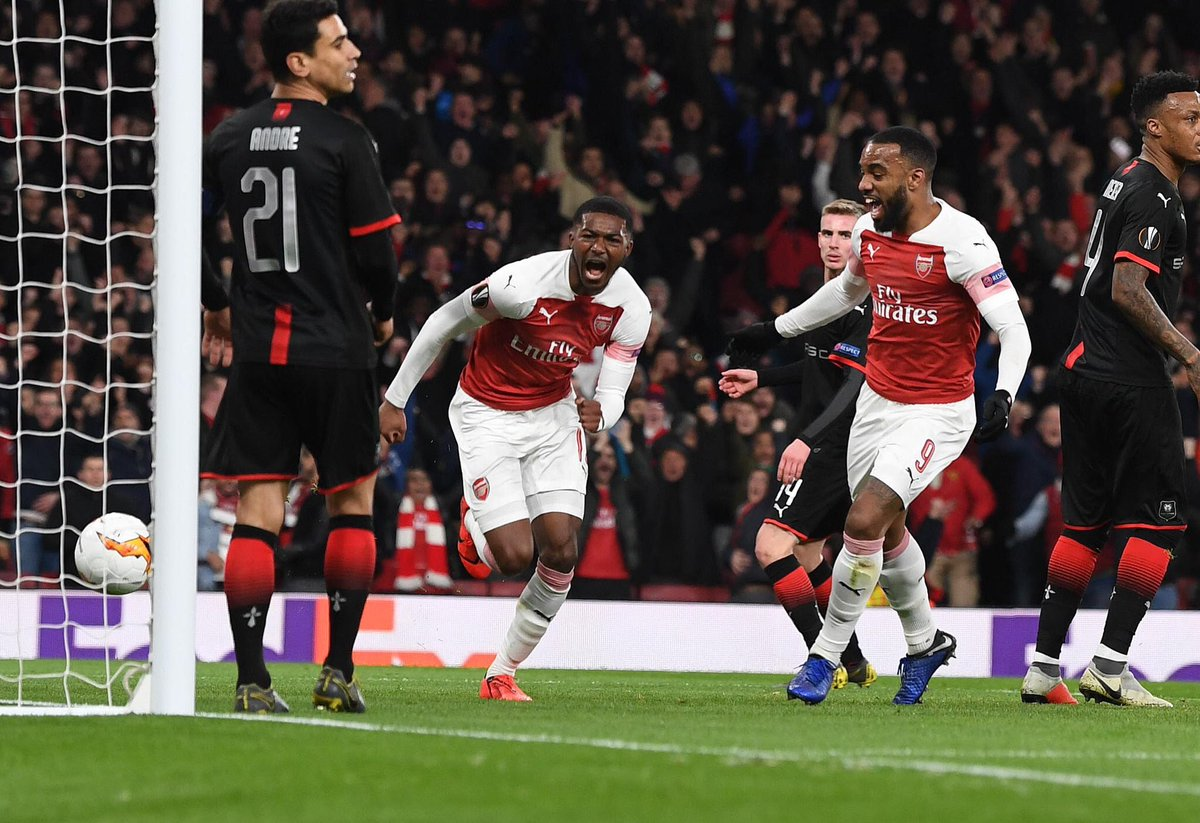 """Ainsley Maitland-Niles on his goal against Rennes: """"It was a fantastic feeling to score at the Emirates for the first time. What can I say? It was an unforgettable moment."""" #afc<br>http://pic.twitter.com/gtWRefi8ou"""