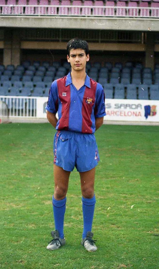 Pep Guardiola at 13.  #FCBarcelona #FCBMasia