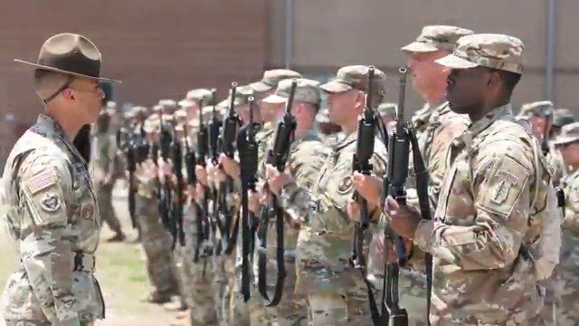 .@USArmyReserve drill sergeants are always ready to serve, train and fight for the Nation.   Video by Maj. Michelle Lunato