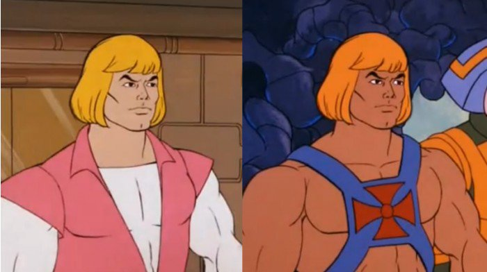 Today -- for the first time as an adult -- I remembered that He-Man had a secret identity, and this was He-Man's secret identity.