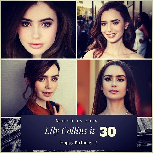 Actress Lily Collins turns 30 today !!!    to wish her a happy Birthday !!!