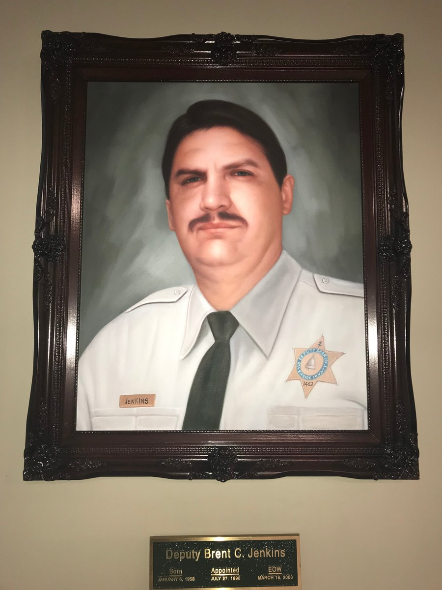 Today we remember and honor Deputy Brent C. Jenkins. Deputy Jenkins was killed in an automobile accident while on patrol. EOW 3/18/2003. #gonebutneverforgotten #neverforget<br>http://pic.twitter.com/OyclCjZL4f