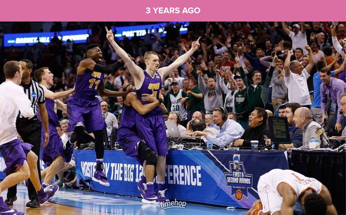 Three years ago today @PJesperson hit the craziest buzzer-beater I've ever seen (and many of us have ever seen) in Oklahoma City. This @adambwesley photo was easily the best reax shot that was taken.