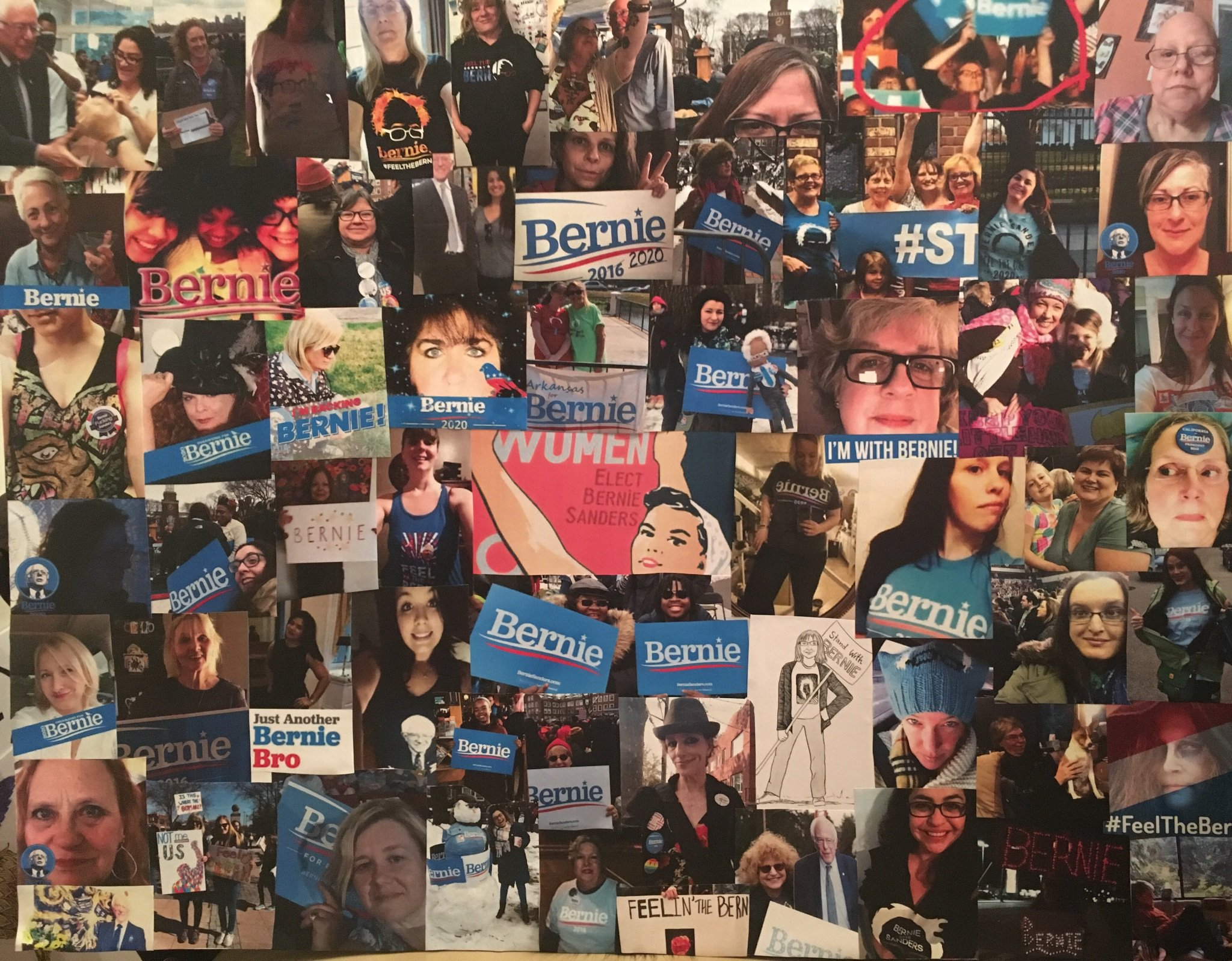 The 4TH Women For Bernie COLLAGE is Complete. Here Are