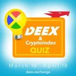 Image for the Tweet beginning: Super QUIZ!  Cryptoindex, Deex Exchange and