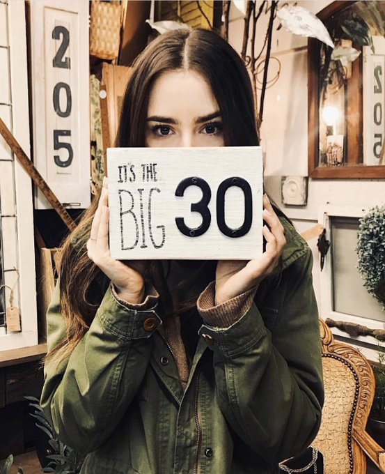 Lily collins is 30 today!!!! happy bday loml