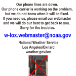 Image for the Tweet beginning: Our phone lines are down.