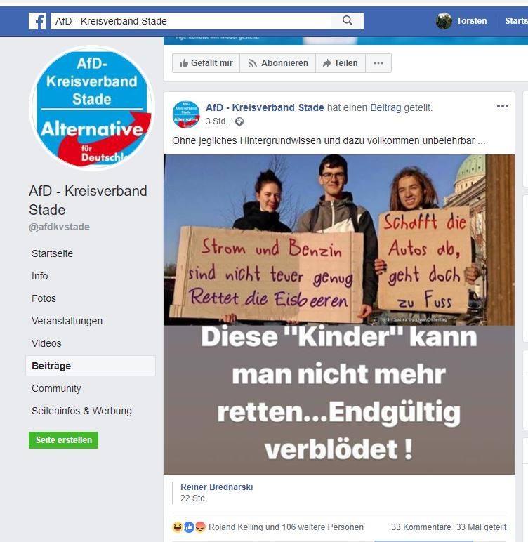 Die #AFD versucht es wieder einmal mit peinlichen, billigen Fake-Bildern. Ist dieser Partei eigentlich nichts zu schade? Ist man denn da stolz darauf ihre hörigen Wähler nur aufgrund von Lügen bei der Stange zu halten? #AFDwirkt wie die größte Schande Deutschlands