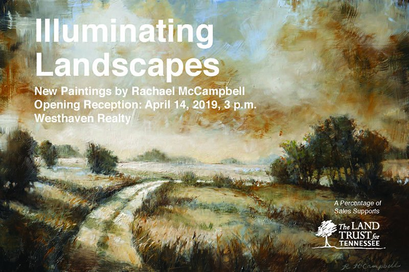 Come support a great organization and a great artist! @LandTrustTN has been protecting our open spaces for 20 years, and to mark this milestone, they invited Tennessee artist, @McCampbellArt, to paint local scenes of Tennessee's beautiful landscapes for this exhibit.