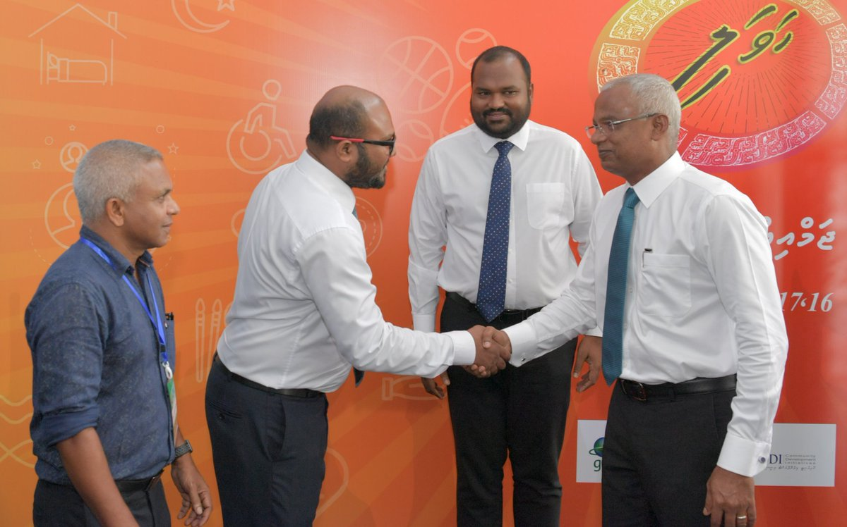 Thank you HEP @ibusolih for visiting #Havali2019. The time & dedication you put into the event shows the government's commitment in empowering and developing the civil society.