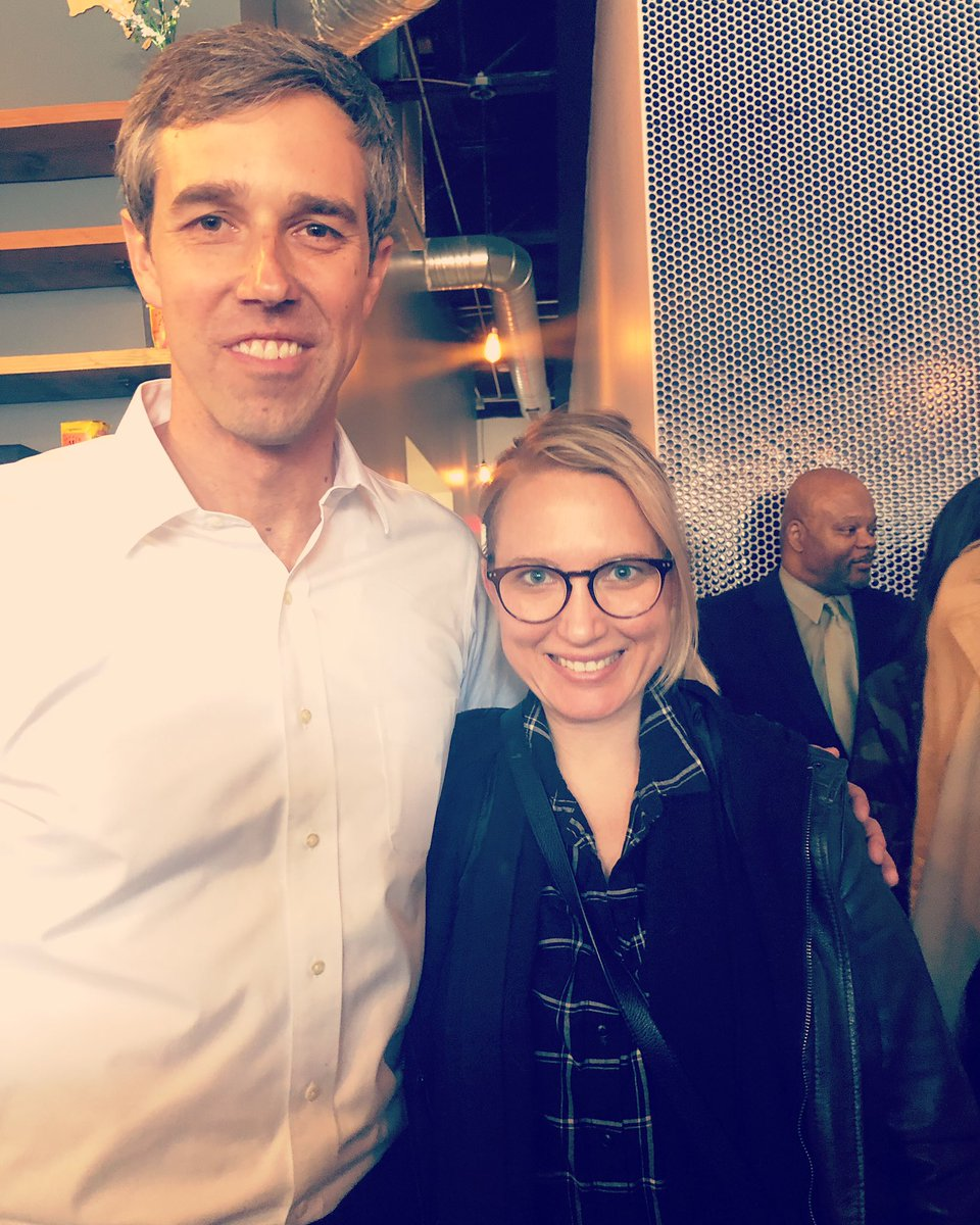At this morning's meet &amp; greet, a diabetic woman started to pass out and ppl asked me to call 911. @BetoORourke stopped his speech and came over to help revive her with juice. #Mondays #ElectionSeason #BetoOrangeJuice<br>http://pic.twitter.com/wqNOLpJwG6