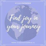 Image for the Tweet beginning: Find joy in your #StudentEnterprise