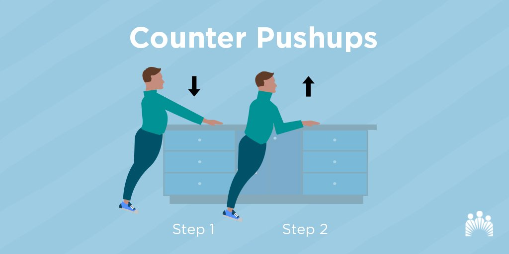 Up your fitness game without throwing a curveball into your daily routine. Check out these standing push-ups that are easy to do in the kitchen. https://k-p.li/2RU8yYO