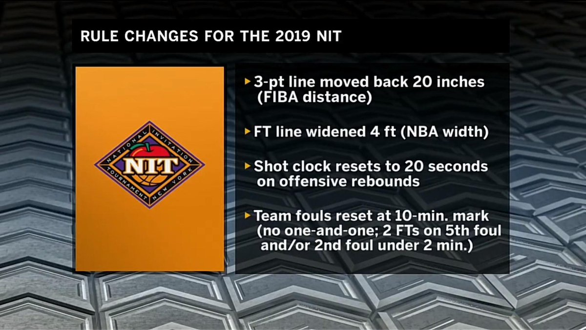 The NIT, which features @IndianaMBB and @HuskerHoops, has some new rules.  What do you think?  #MarchMadness x #MarchOnBTN