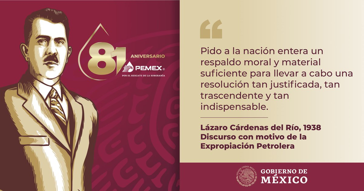 Gobierno de México's photo on #ExpropiaciónPetrolera