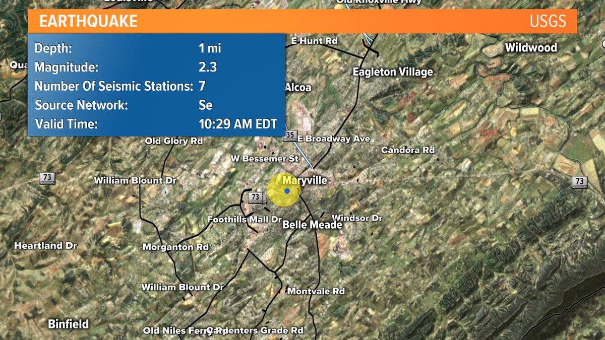 Wbir Weather On Twitter Earthquake Did You Feel It The Usgs Has