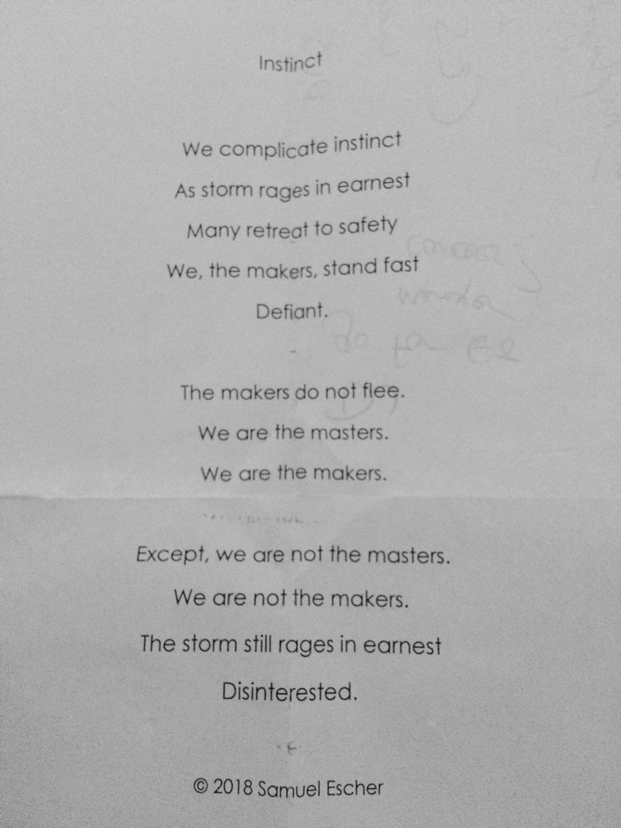 Finding poetry typed on scrap paper. A favourite pastime. #poetry #recycle #MondayMotivation #musicianlife #oldpoems<br>http://pic.twitter.com/kTnEleTiUN