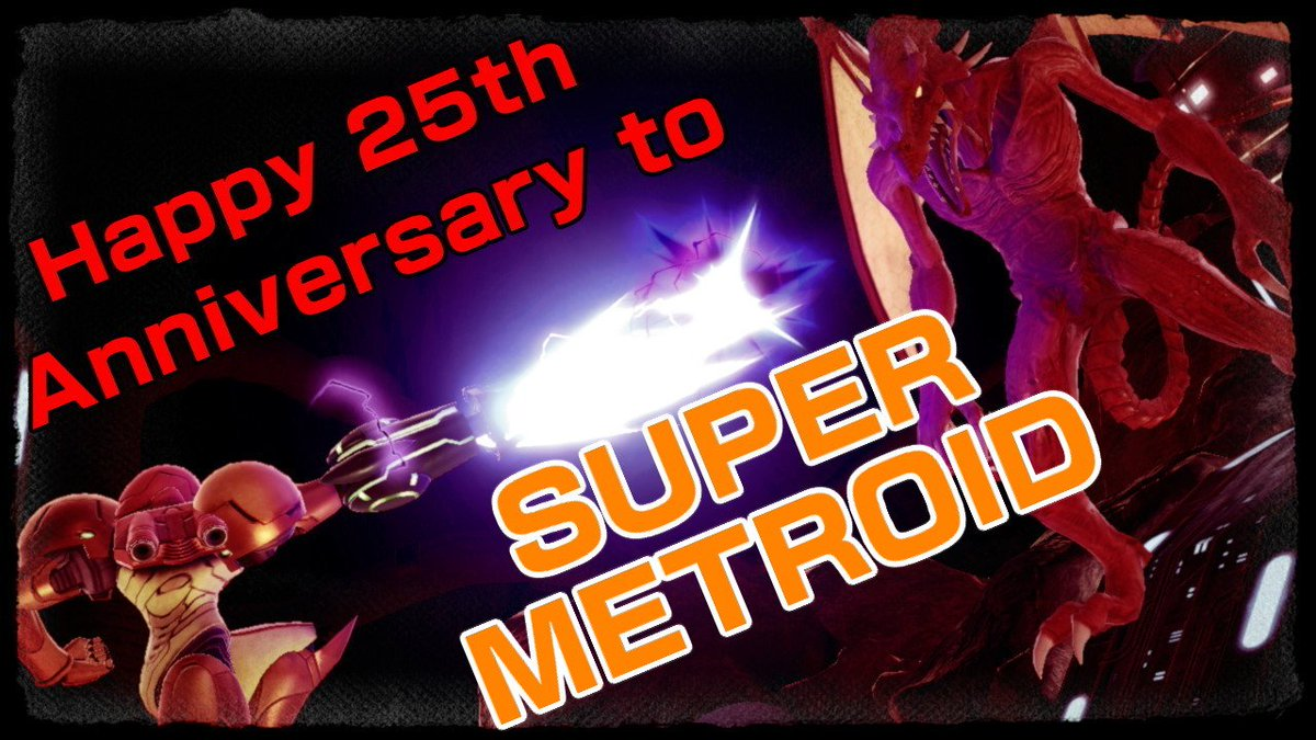RT @TomLegend101: Today marks the 25th anniversary of Super Metroid in Japan!!!  #SmashBrosUltimate #NintendoSwitch https://t.co/hE2ZUY3z69
