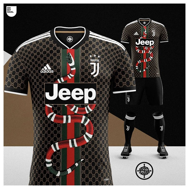 oh my goal on twitter adidas x gucci football kit concept for juventus gucci football kit concept for juventus