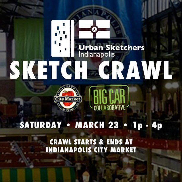 Coming up this Saturday! Join #UrbanSketchersIndy for a Sketch Crawl starting and ending at @indycm. From 1-4pm, the group will travel to different Indianapolis locations to explore through drawing. Stay the whole time and you'll be entered in a raffle t… https://t.co/H2KE3fWQBl