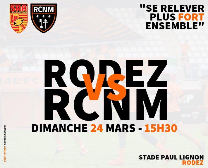 #SRARCNM   👊🏻🆚  Ce week-end, nos joueurs se déplacent dans l'Aveyron pour...