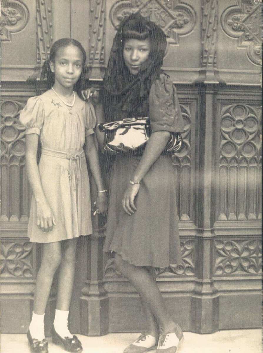 My mom died today. Joining my dad who passed away 40 days ago. She was a pretty remarkable lady. An immigrant from Cuba, she lived with the Oblate Sisters of Providence in Baltimore during college. Here (on the left) she is in Cuba in the 1930s.